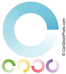 Round preloader, buffer shape, circular progress indicator      Round preloader, buffer shape, circular progress indicator