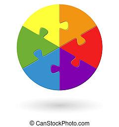 Round Puzzle - 6 options