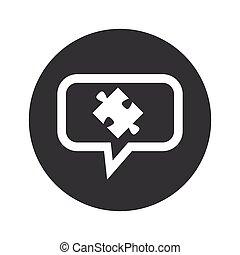 Round puzzle dialog icon
