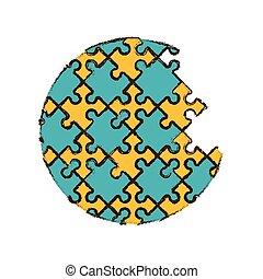 round puzzle pieces image
