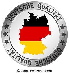 round quality button Deutsche Qualität
