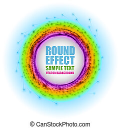 Abstract round - vector symbol background. Version with sample text.
