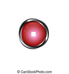 round red button volume