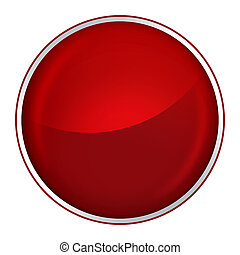 red button - round red button with free blank space