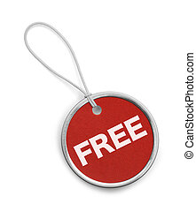 Round Red Free Tag