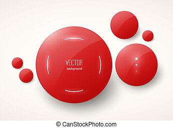 round red glossy placeholders