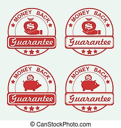 round red stamp set