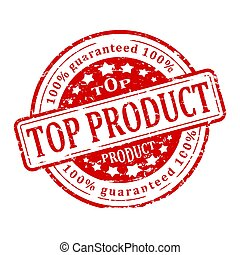 Round red stamp - top product