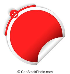 Round red sticker, creative design
