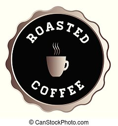 Round Roasted Coffee Sign