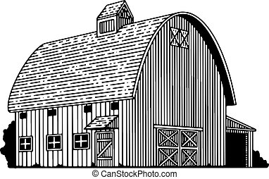 Round Roof Barn - Illustration of a round-roof barn.