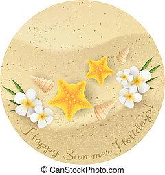 Round sand banner