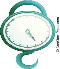 Round scales icon, cartoon style
