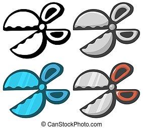 Round Scissors Design Element