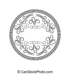 round scroll decorative frame