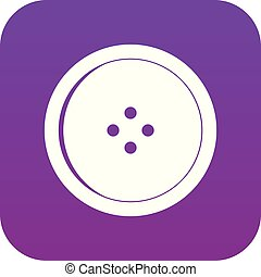 Round sewing button icon digital purple