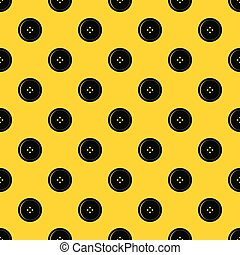 Round sewing button pattern vector