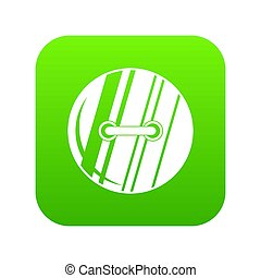 Round sewn button icon digital green