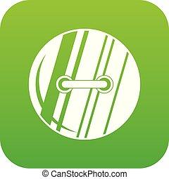 Round sewn button icon digital green