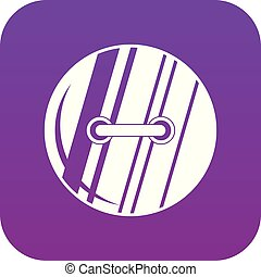 Round sewn button icon digital purple