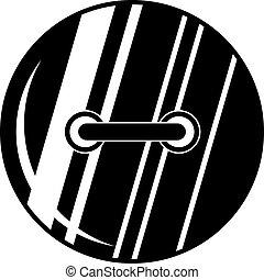 Round sewn button icon, simple style