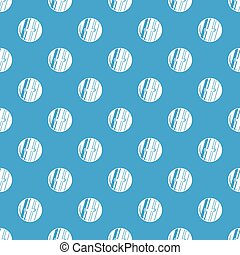 Round sewn button pattern seamless blue