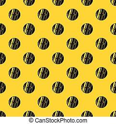 Round sewn button pattern vector