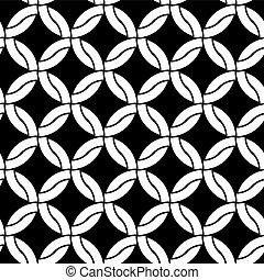 Round shapes seamless pattern