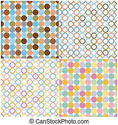 Round Shapes Seamless Patterns