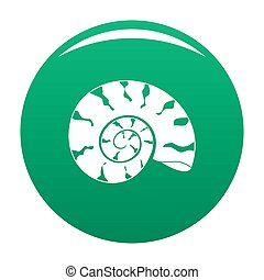 Round shell icon green