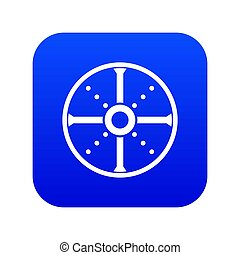 Round shield icon digital blue