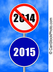 Round sign New Year