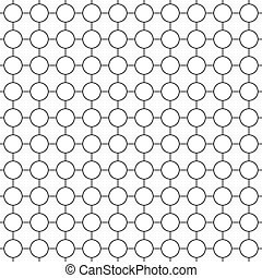Round simple seamless pattern
