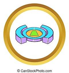 Round soccer stadium icon