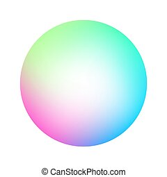 Round soft color gradient