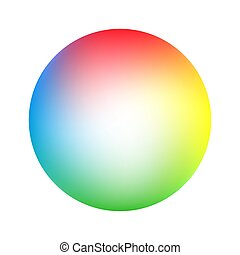 Round soft color gradient