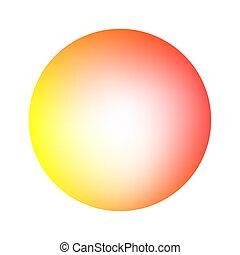 Round soft warm color gradient