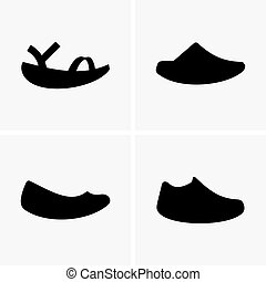 Round sole shoes, shade pictures