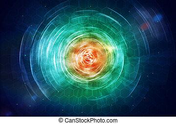 Round space button background