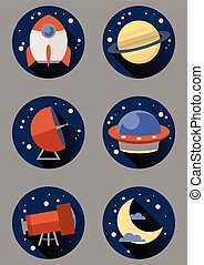 Round space icons
