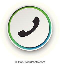 Round spectrum call button.