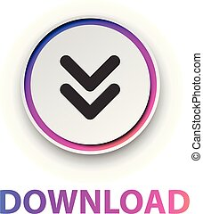 Round spectrum download button.