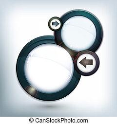 Round speech bubble icon