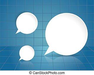 Round speech bubble