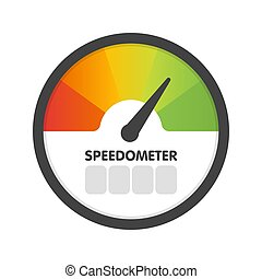 Round Speedometer fast speed. Vector illustration template
