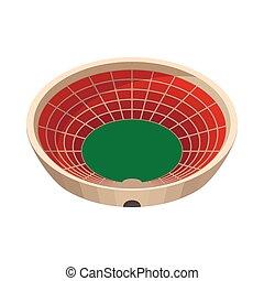 Round sports stadium cartoon icon