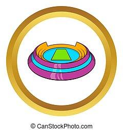 Round sports stadium icon