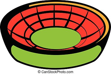 Round stadium icon, icon cartoon