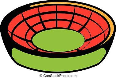 Round stadium icon, icon cartoon