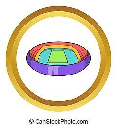 Round stadium icon